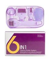 Nuovo DRS 6 in 1 Derma Roller Microneedle Kit per più Cura della pelle ringiovanimento Trattamento Aghi microdermoabrasione Rollor
