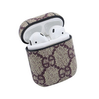 Applicable airpods earphone case leather apple iphone blueto...