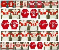 Vintage Detroit Red Wings Jerseys 13 Pavel Datsyuk 19 Steve Yzerman 11 93 Daniel Cleary Johan Franzen 96 HOLMSTROM 29 Mike Vernon CCM hockey