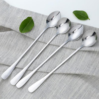 1pc Pointed Round Stainless Steel Coffee Spoon Long Handled ...