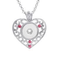 Snap jeweley nuovo bottone pendente di alta qualità 18mm con strass snap nuovi bottoni collane cuore snap collana