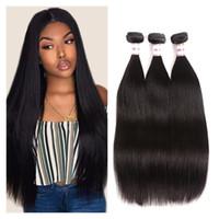 8A Mink Hair 3 Bundles Peruvian Straight Virgin Human Hair Weave Bundles Natural Color 100% Unprocessed Human Hair Weft
