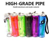 Portátiles de plástico de colores Fumar Mano de tuberías de 6 colores cachimba quemador de aceite Reggae cigarrillo pipas de agua Bongs Shisha