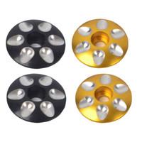 4pcs aleación de aluminio de la bici del camino de MTB Stem Headset tapa superior cubre las piezas
