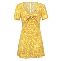 Kadın Yaz Bağbozumu Boho Maxi Akşam Parti Plaj Mini Elbise Çiçek Sundress AU