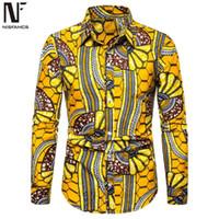Erkek Elbise Gömlek Iş Adamı Rahat Çiçek Uzun Kollu Tops Turn-down Yaka Büyük Boy Gevşek Bluz Avrupa Parti Giyim Varış