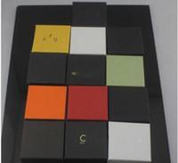 جديد C العلامة التجارية مجوهرات هدية مربع مصمم للرجال والنساء الفولاذ المقاوم للصدأ الإسورة والخواتم والمجوهرات قلادة