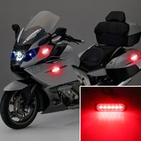 LKW-Signal-Licht-Warnlicht 6 LED-Auto-SUV Motorrad LKW Strobe Universal-ultradünne 12-24V