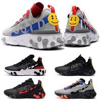 Hommes Sport Running Shoes React Element Triple Black jeu Royal Wolf Gris Bred Bred Fashion Fashion Mens Entraîneurs Sports Sneaker Livraison Gratuite
