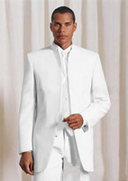 VEIAI New Design Morning style white Groom stand collar Tuxe...