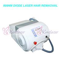 portátil 808nm diodo máquina de remoção de pêlos de laser 808 nm de comprimento de onda permanente depilacion equipamento de beleza para todos os tipos de pele