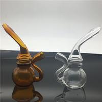 Hochwertige Glas-Bong-Wasserpfeifen Handpfeife Glas Blunt Bubbler Bong Kleine Glas-Ölbrenner Pfeife Dab Rigs Mini Bongs Filterrohr