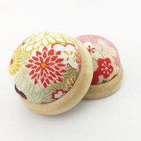 Palavras de costura Ferramentas 1 pc Floral Cross Stitch Pin Almofada Botão Home Alfaiates Segurança Artesanato DIY Needlework Acessórios