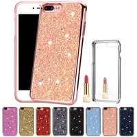 Luxury Mirror Diamond Glitter Bling Hybrid 2 in 1 Soft TPU H...