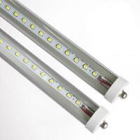 8FT FA8 단일 핀 T8 LED 튜브 라이트 램프 전구 SMD2835 형광 2.4M 8FT SMD2835 192LEDS 45W AC85-265V