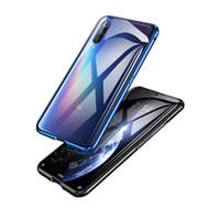 360 ° Tam Dody Koruma Manyetik Flip Case For Xiaomi 9 Çift temperli cam Telefon Kapağı Taraflı