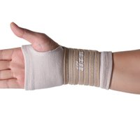 Vertvie Braço Luva 1 pc Apoio Para o Punho Luvas Ginásio Luvas De Pulso Brace Sports Proteção Pulseira Para Basquete Voleibol Bege