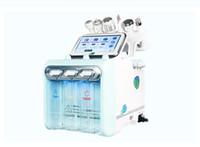 6 en 1 Hydrafacial cáscara de diamante microdermabrasión rf rejuvenecimiento de la piel masajeador facial ultrasónico depurador de la piel máquina de belleza