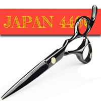 Япония 440C Barber Ножницы Razor Sharp Профессиональные парикмахерские ножницы 5,5 / 6,0 Раскрой истончение волос Styling Tool