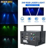 Projetor laser portátil Laser Light Show equipamentos RGB 3W DJ Luz para o partido KTV Clube Stage Iluminação Laser Luz
