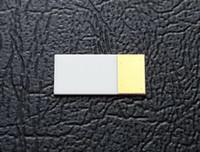 Personalizar substrato de cerâmica banhado a ouro de alta condutividade térmica de nitreto de alumínio Alumina dissipador de calor de ouro grosso