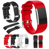 Per Fitbit Carica 2 Cinturini da polso TPE Accessorio sostitutivo per polso a scacchi Smart Watch Band con fibbia in metallo
