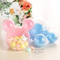 12st Acryl Micky Maus-Süßigkeit-Kasten-Bevorzugungen für Kinder-Geburtstags-Party-Geschenke-Empfangs-Tabellen Dekors Ereignis Süße Halter Hochzeit Bevorzugungen