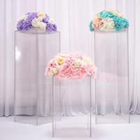 فاخر واضحة إناء الزهور الاكريليك حامل باقة تقف يرتكز الزفاف طريق نافذة عرض الحرف الممر يؤدي زهور الزفاف الخلفيات