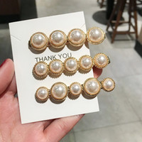 5 pcs 2019 Fashion Imitiation Pearl Hair Clip Barrettes for ...
