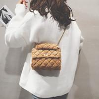 Pink Sugao designer crossbody bags women chain bag new fashion lattice shoulder bags hot sales purses BRW messenger bag high quality