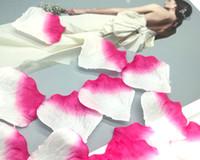 1000pcs rosa bianco seta artificiale petali di fiori di rosa favore di nozze accessori decorazione di eventi del partito