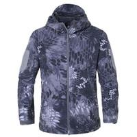 Marca jaqueta v5 .0 militares militares jaqueta lurker tubarão pele macia shell macio homens windbreaker casaco casaco tamanho xs-4xl