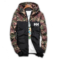 Männer Bomberjacke Gedruckt Dünne Dünne Langarm Camouflage Jacken Mit Kapuze Windjacke Reißverschluss Outwear Marke Kleidung Größe M-5XL