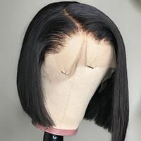Parrucche dei capelli umani anteriori del merletto per le donne di Black Women Short Bob Wigs Brasiliano Dritto Svizzera Swiss Natural Swiss Capelli remy