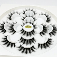 7pairs Faux 6D Mink Eyelash Natural Long False Eyelashes Eye...