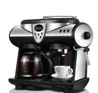Haushalt Kaffeemaschine LCD-Display Vollautomatische Kaffeemaschine amerikanische Espresso Kaffeemühle Bohnen Pulver Dual-Use-Coffe Make