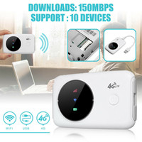 4G Wifi Routeur sans fil 3G / 4G LTE Routeurs Unlock Mini Voyage rapide à large bande portable voiture mobile Wifi