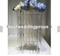 Ekran Çiçek Standı Mumluk Yol Kurşun Masa Centerpieces akrilik kristal Düğün Şamdan Için best0594 Ayağı Şamdan Standı