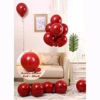 كيس 50pcs / لون أحمر حفل زفاف بالونات لعب الاطفال البالونات وصول جديد التصوير ديكور عالية الجودة للنفخ الهواء كرات الجديد