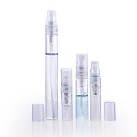 Kısa 2ml 3ml 5ml 10ml Sprey Şişe Boş Temizle Cam Alt tüpü Tekrar doldurulabilir Taşınabilir Parfüm İnce Mist Atomizer Makyaj Temizleyici Oda Parfümü