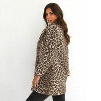 2020 Invierno caliente más nueva de las mujeres calientes del leopardo mullido Fleece Coat rebecas con capucha Jumper Chaqueta Tops Clubwear