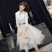 الحزب الأبيض مساء قصيرة شيونغسام جنسي سليم اللباس الزواج ثوب الزفاف النمط الصيني تشيباو سيدة الملابس فستان XS-3XL