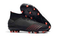 2019 New Mens High Ankle Football Boots Predator 19+ FG Chaussures De Foot Predator 19 Crampons De Football En Plein Air FG Archetic chaussures de football