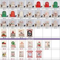 54 أنماط قماش عيد الميلاد سانتا حقائب كبيرة حقائب الرباط كاندي بابا نويل أكياس حقائب هدية للديكور عيد الميلاد HH9-2372