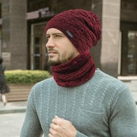 Winter Men Hat and scarf Neck warmer knit Cap scarfs Hats Fo...