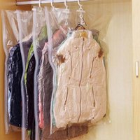 Vacuum Seal Compressed Space Saving Clothes Hanging Storage ...