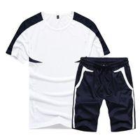 الصيف عارضة الرجال رياضية ملابس رجالية مجموعة لياقة ورياضة دعوى رجل 2020 العلامة التجارية قصيرة مجموعة تي شيرت ملابس رياضية اثنان من قطعة