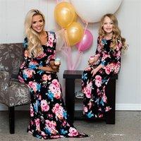 Nouvelle Mère Fille Robes d'été Famille Matching vêtements maman fille robe 2018 famille Vêtements fille robe Enfants Outfit