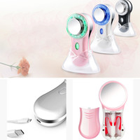 Face Beauty Device Massager Massage Red Blue Light Anti Acne...