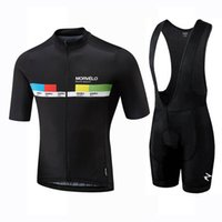 Morvelo Team Cycling Jersey Juego de manga corta BIB Shorts Sets Racing Bike MTB Ciclo Ropa Use Ropa Ciclismo Sportswear 326017
